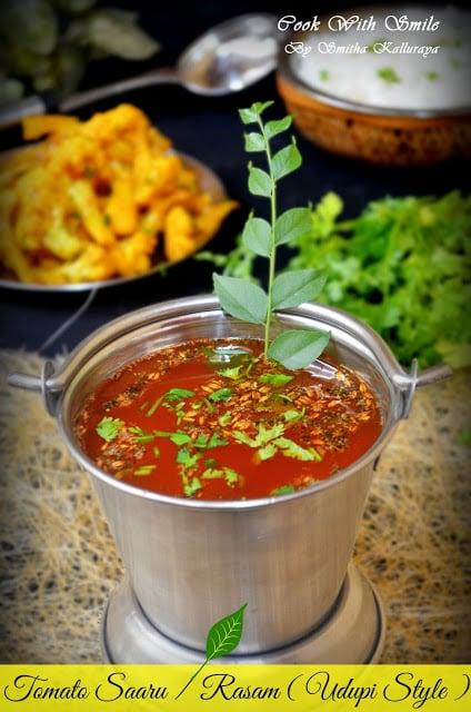 Udupi style tomato rasam recipe tomato saaru karnataka recipes course side dish forumfinder Gallery