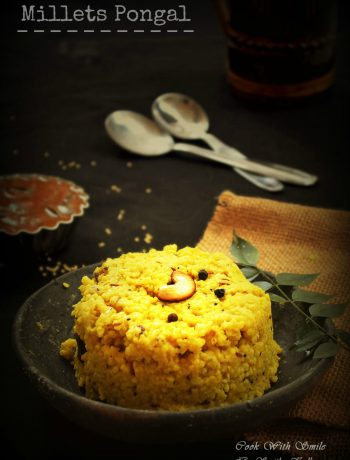 millets pongal recipe