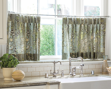 Cafe Curtains For Kitchens & Breakfast Nooks & Small Windows