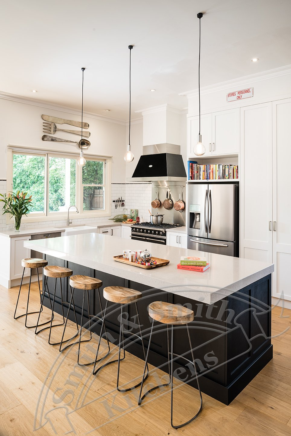Relaxed Industrial Style Kitchen And Library Canterbury North Smith Amp Smith