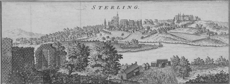 View of Stirling and Stirling Castle from Cambuskenneth 1693 by John Slezer