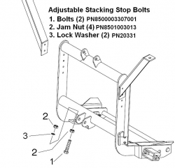 Stacking Stop Bolts EZ Plus / MDII Lift Frames