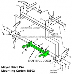 Meyer Drive Pro Mounting Carton for 2005 & up Toyota