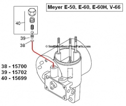 Meyer E-60 pump relief valve seat M15702