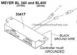 Controller for Meyer Baseline 240 and 400 (BL240 and BL400