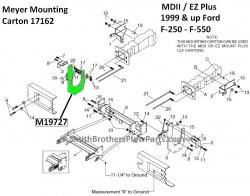 Meyer 19727 RH Bracket for Meyer Plow Mounting Carton 17162