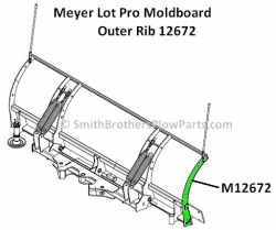 Lot Pro Outer Rib. Fits Left or Right side.