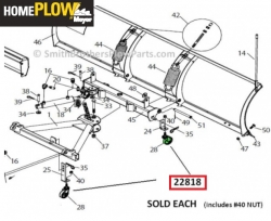 Plow Cart Shoe Caster Pivot for Home Plow by Meyer