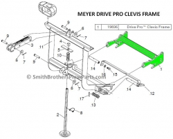 Meyer Drive Pro Universal Clevis 19836