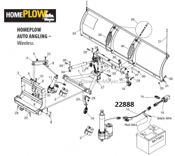 Electric Actuator Harness Home Plow by Meyer (Wireless