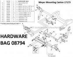 Hardware Bag 08794 for Meyer Mounting Carton 17173