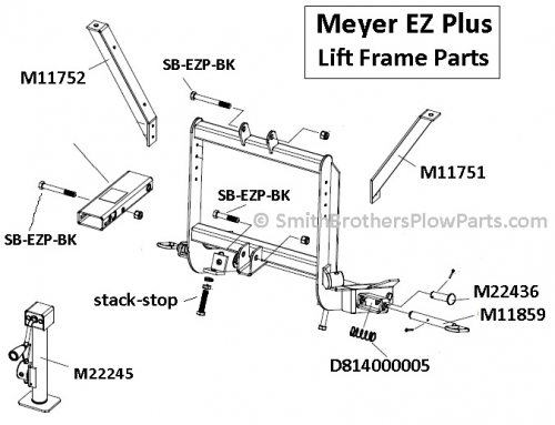 meyer plow pump car tow hitch wiring diagram crank stand for ez plus and md2 md ii plows thumb 15104892 lift frame parts jpg