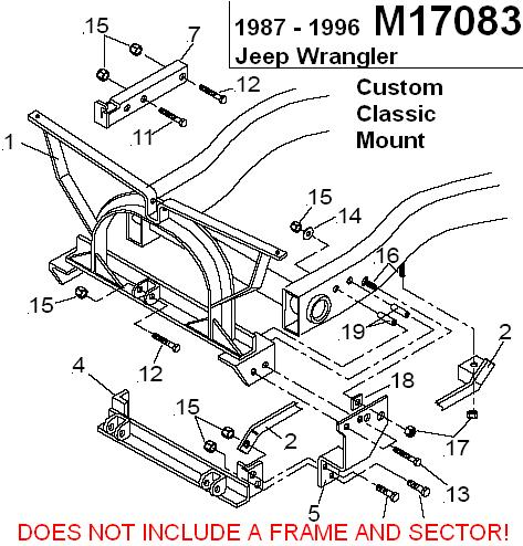 Meyer plow mount for Jeep