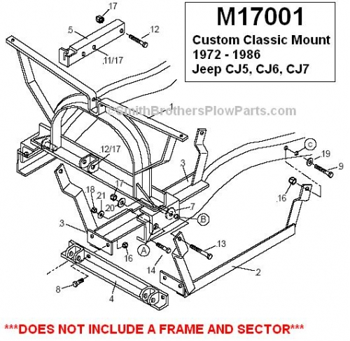Jeep CJ plow mount, snow plow mount jeep cj.