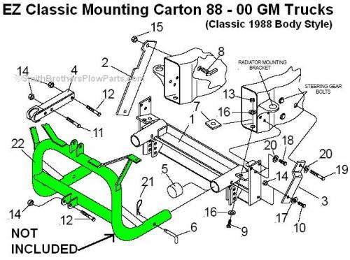 Ez Mount Meyer Plow Wiring Diagram Meyer Mounting Carton 17089 800 00 Shipped