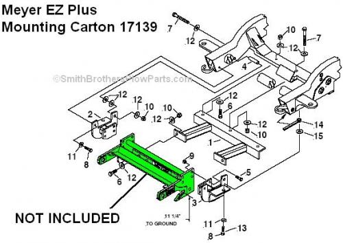 Ez Mount Meyer Plow Wiring Diagram Meyer Ez Plus Mounting Carton 17139 For 1999 2010 Gm Trucks