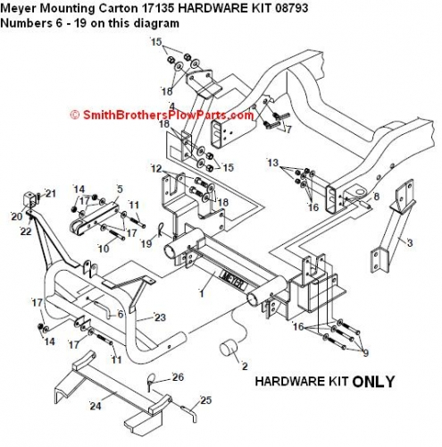 Snow Plow Wiring Harness For Myers, Snow, Free Engine