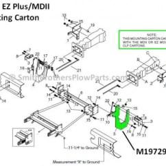 Meyer Plow Pump Hand Skeleton Diagram Lh Bracket For Ford F-250 - F-550 Mdii / Ez Plus Mounting Carton 17162