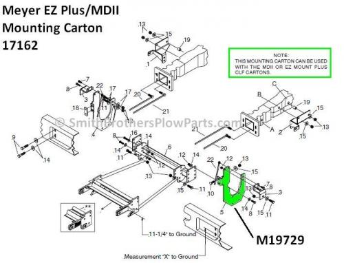 meyer plow pump 3 layers of soil diagram lh bracket for ford f-250 - f-550 mdii / ez plus mounting carton 17162