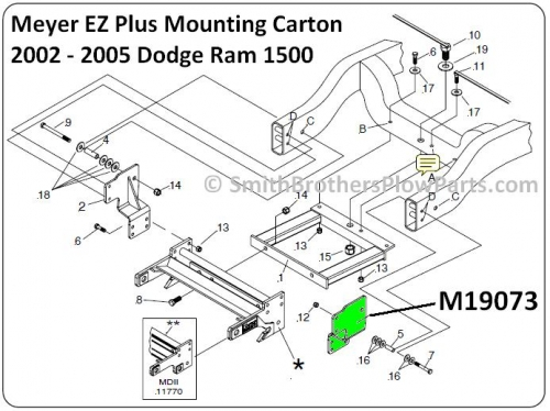 Ez Mount Meyer Plow Wiring Diagram Dodge Ram 1500 Ez Plus Side Member Weldment L H