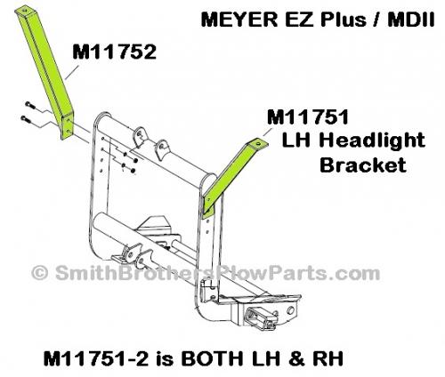 Meyer EZ Plus / MDII Plow Light Bracket SET. BOTH LH