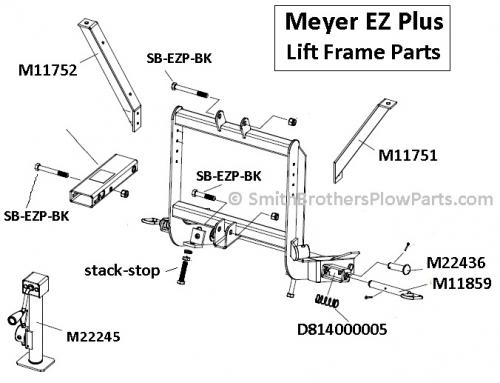 Meyer EZ Plus / MDII Light Bracket (LH) Driver's Side