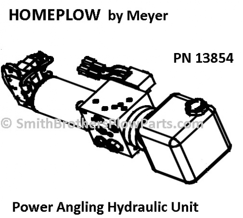 Home Plow by Meyer Power Angling Hydraulic Unit 13854