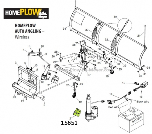 Actuator Cover for Home Plow by Meyer (Wireless) 15651