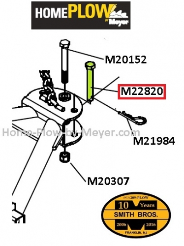 Home Plow by Meyer Fixed Angle Pin 22820