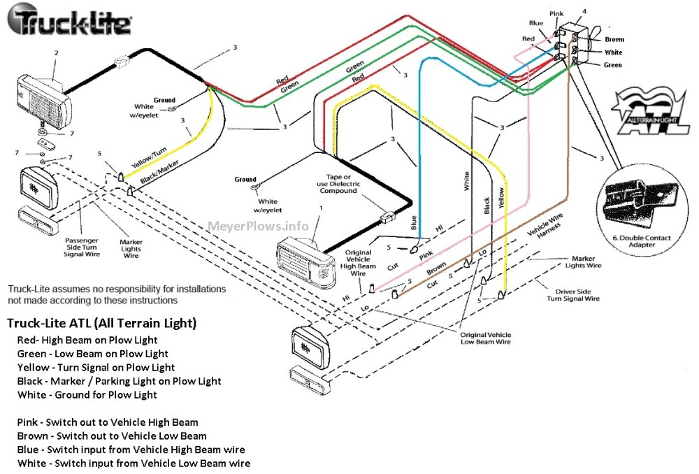 medium resolution of truck lite plow light wiring diagram