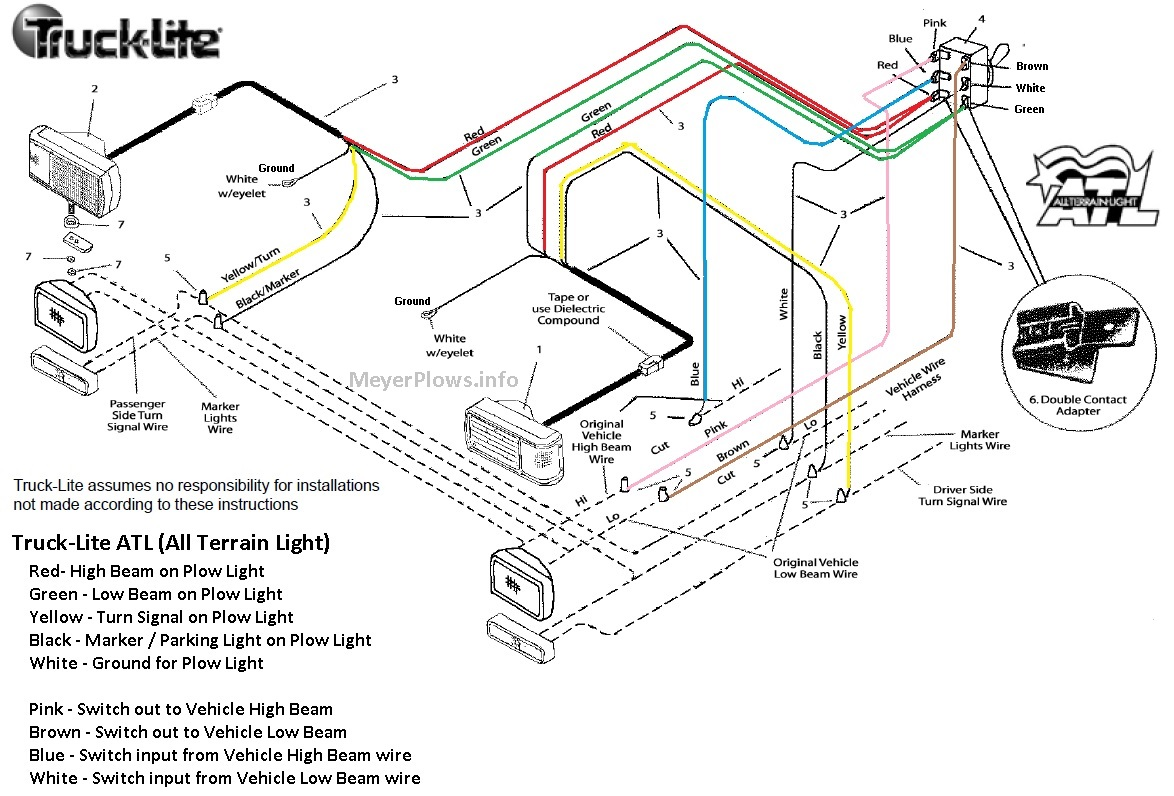 hight resolution of truck lite plow light wiring diagram