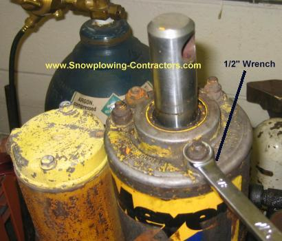 meyer plow pump 2000 jeep wrangler tj radio wiring diagram smith brothers services step by rebuilding a e 47 next we remove the nuts on studs that hold top cap use 1 2 wrench for this it is not uncommon to unscrew instead of