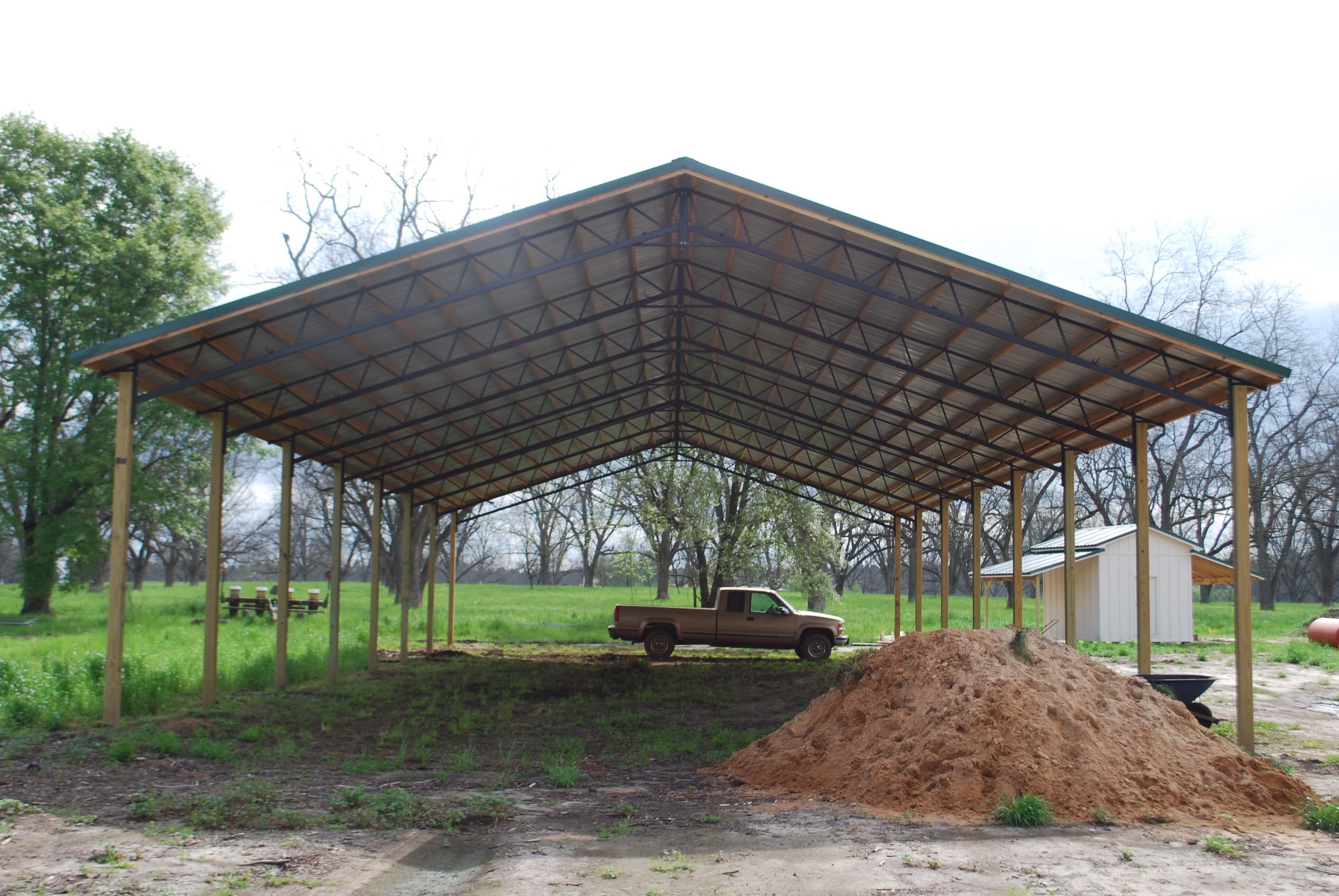Open Shelter and Fully Enclosed Metal Pole Barns  SmithBuilt
