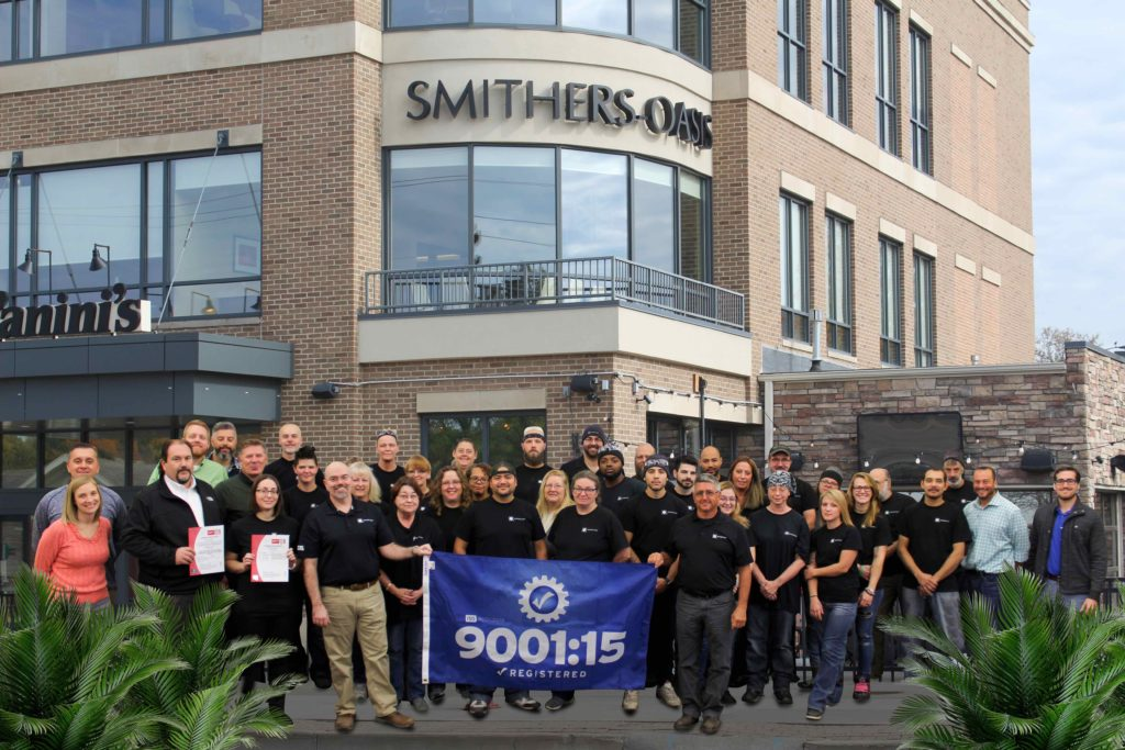 SmithersOasis Receives ISO 90012015 Certification  Smithers Oasis