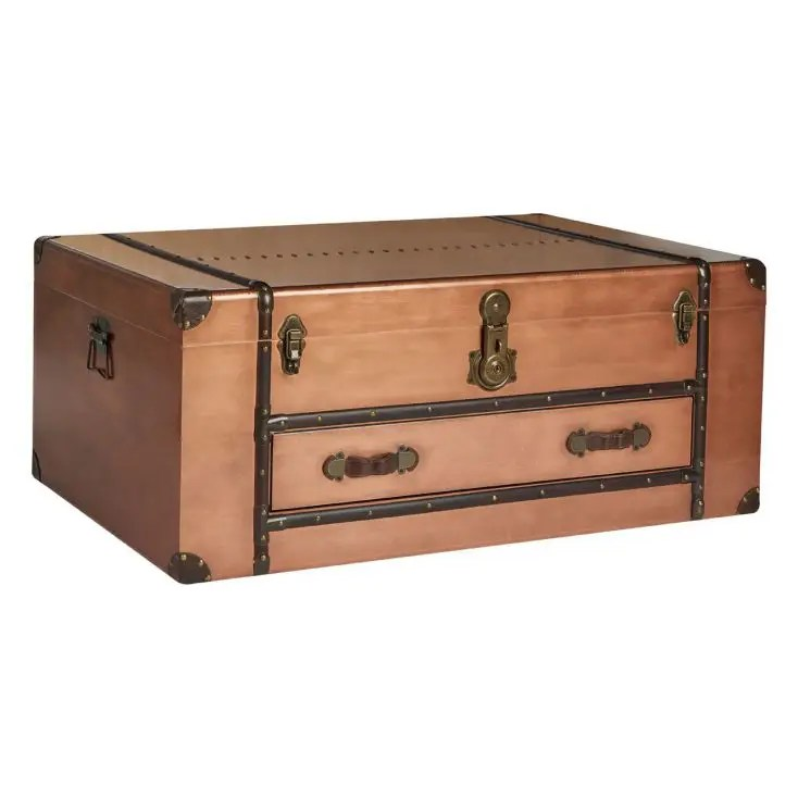 hawker copper storage trunk coffee table
