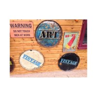 Retro Vintage Wall Art Pictures Quirky Funky recycled Drum ...