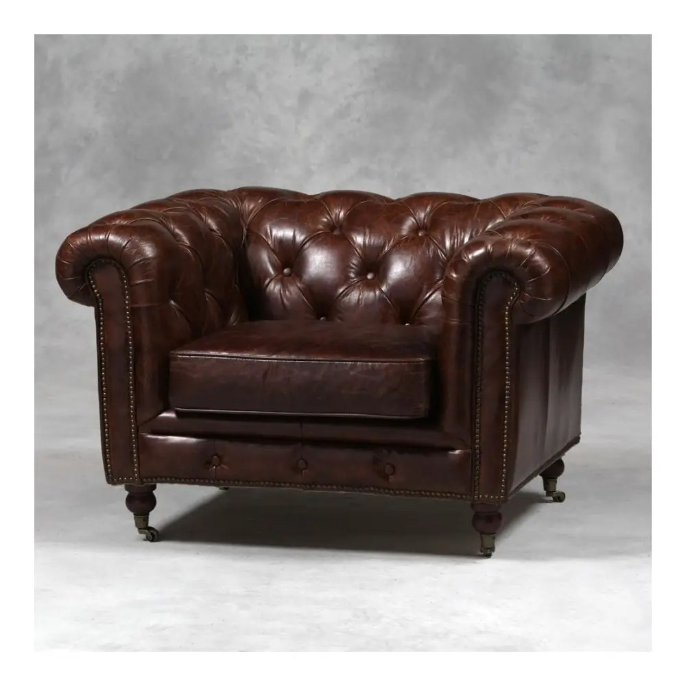 Find Vintage Leather Chesterfield Buy Distressed Armchair