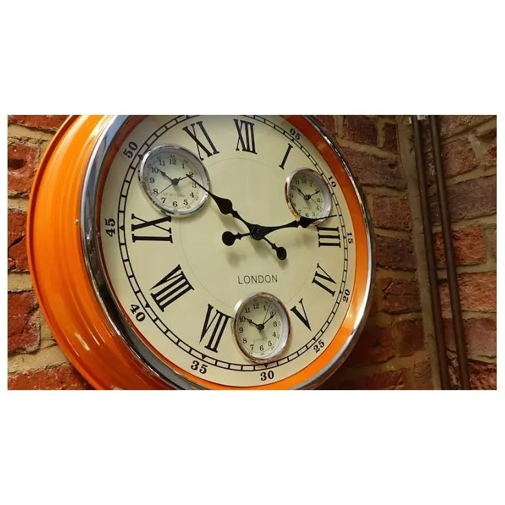 kitchen wall clocks laminate flooring in vintage retro orange copper red black smithers of stamford 110 00 store uk us
