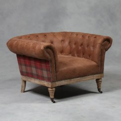 Tartan Chesterfield Sofa Baxter Scs Armchair At Smithers Of Stamford