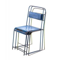 Antique : Vintage : Industrial Stacking School Chair