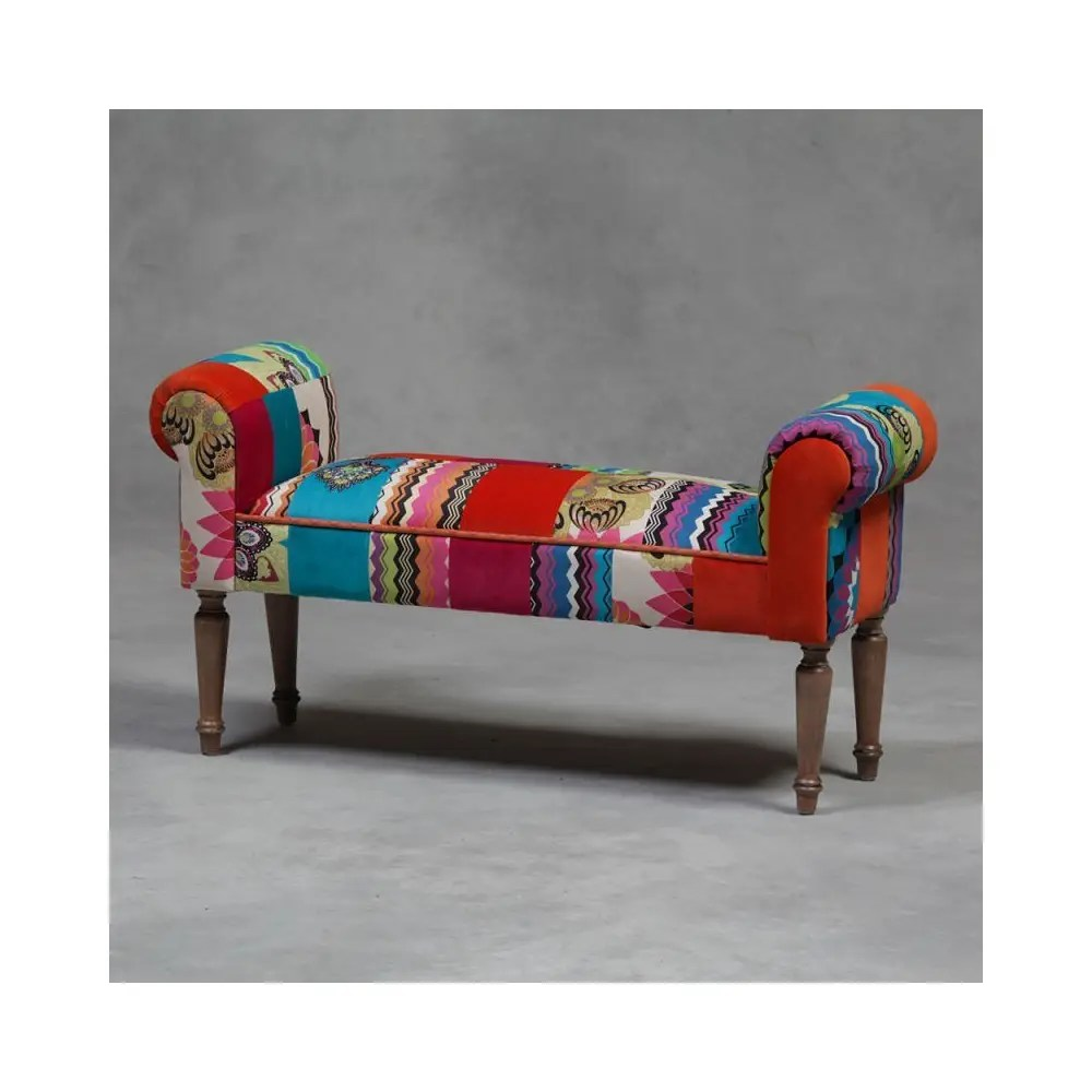 Patchwork Bench Seat Hallway Bench Online Reproduction