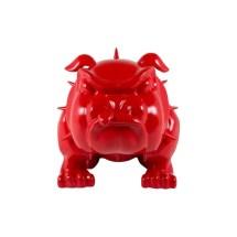 Life Size Bulldog Statue - Red Devil Dog Ornament