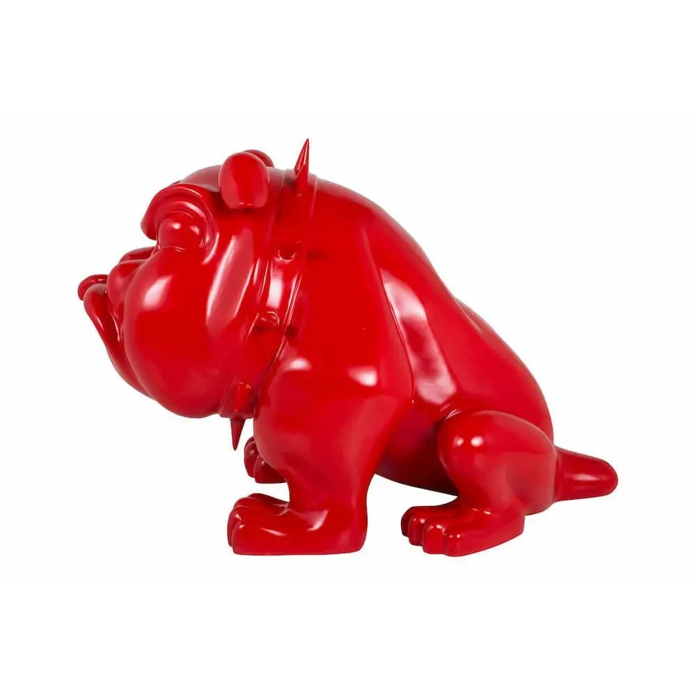 Life Size Bulldog Statue  The Red Devil Dog Ornament