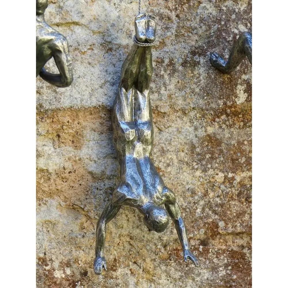 Climbing Men Accent Wall Decor Sculpture Art