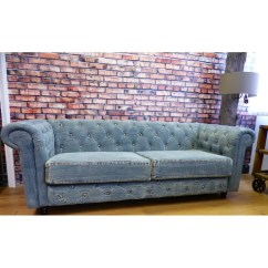 Denim Living Room Furniture Table Lamps For Blue Chesterfield Sofas Vintage Couch Made From Jeans Sofa Smithers Archives Of Stamford 1 829 00 Store Uk Us Eu