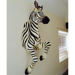 Retro Kitchen Wallpaper Ninja Mega System Reviews Large Life Size Zebra Animal Wall Mount Decoration Unique ...