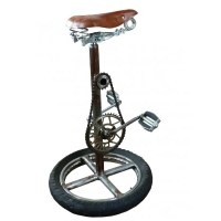 Bicycle Wheel Bar Stool Chair | Pedal Chairs Cool Men ...