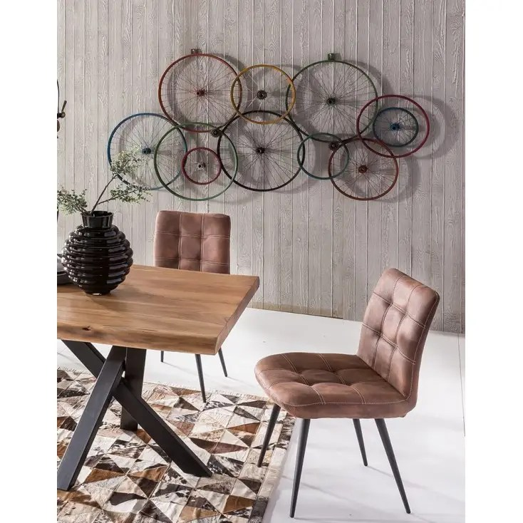 vintage outdoor chairs drafting chair ikea bicycle wall art | wheels recycled on walls urban reclaimed metal