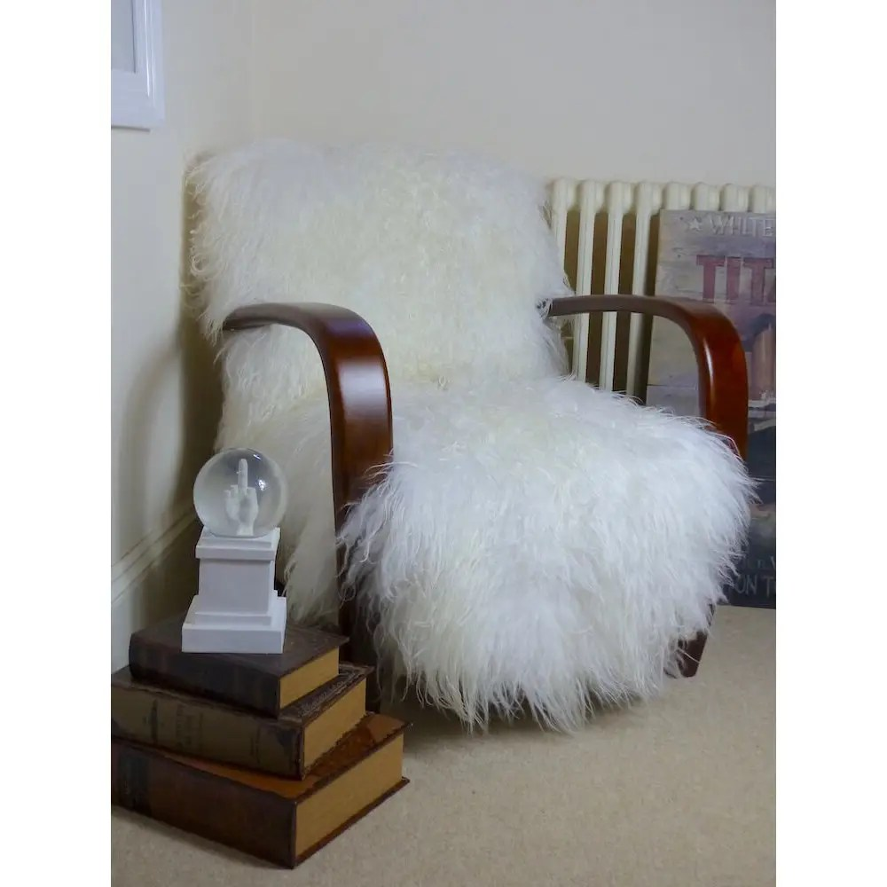 office chair sale plastic chairs and tables mongolian sheepskin | yeti armchair made with sheep skin u.k