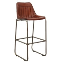 Leather Bar Chairs  Industrial And Vintage